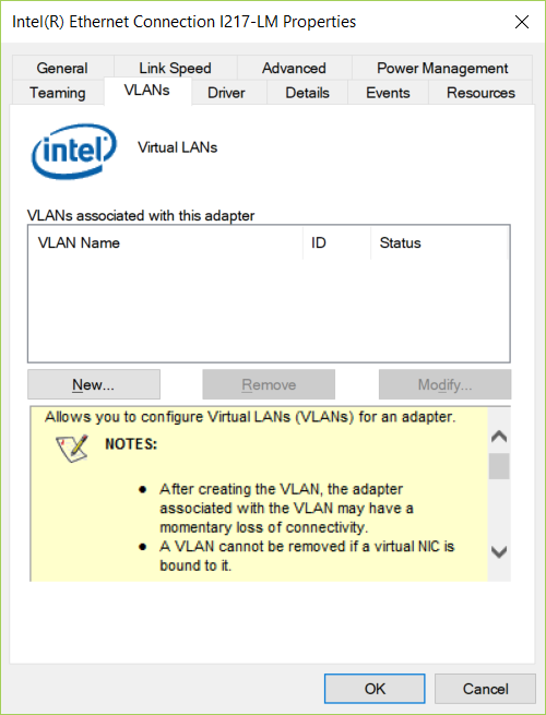 Automating Intel Network Adapter VLAN configuration
