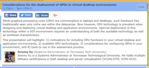 Considerations for the deployment of GPUs in virtual desktop environments